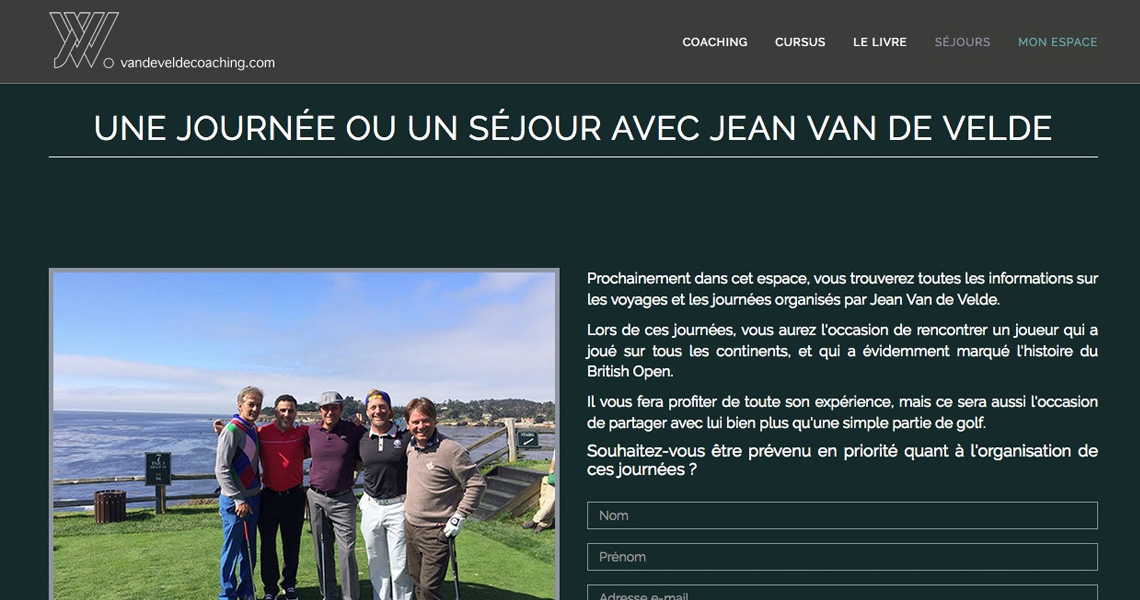 Jean Van de Velde Coaching